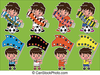 Vector cartoon soccer Sport Fan