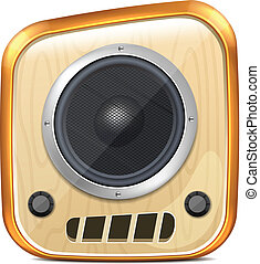 Vector Cartoon Speaker