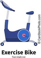 Vector cartoon stationary exercise bike