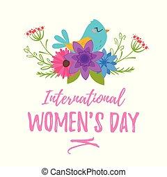 International woman's day greeting card