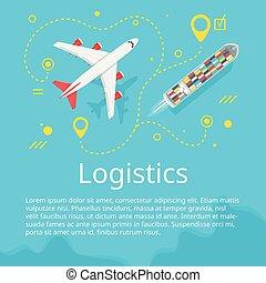 Logistics concept. Top view.