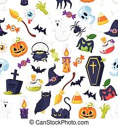 cartoon style Halloween pattern