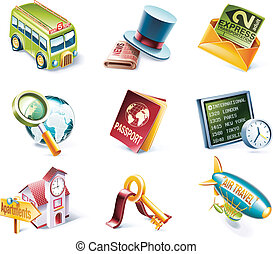 Vector cartoon style icon set. P.12