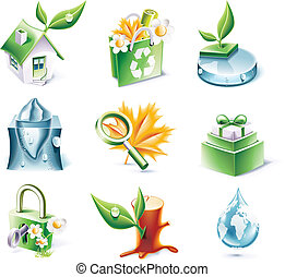 Vector cartoon style icon set. P.20