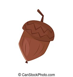 Vector cartoon style illustration of acorn.