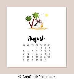 august dog 2018 year calendar