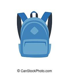 illustration of blue backpack