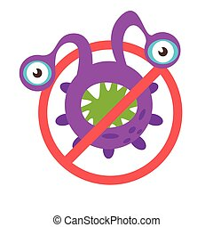 Stop bacteria sign