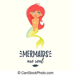 cute mermaid character