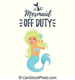 cute mermaid character. Mermay concept
