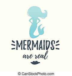 cute mermaid silhouette