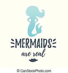 cute mermaid silhouette
