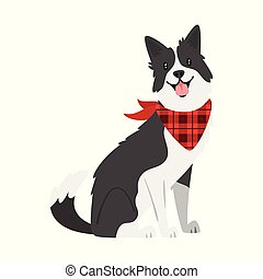 farm animal - dog - Vector cartoon style illustration of...