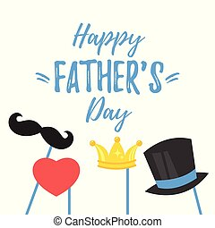 Fathers Day greeting card - Vector cartoon style...
