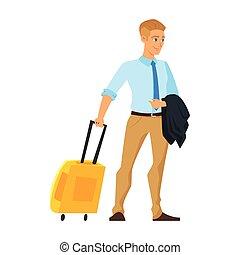 businessman having a business trip
