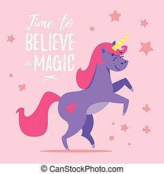 illustration of happy unicorn