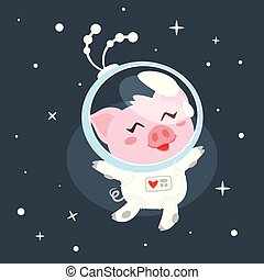 pig in space suit