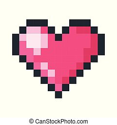 red heart pixel art icon
