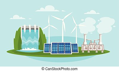 wind mills and solar panels