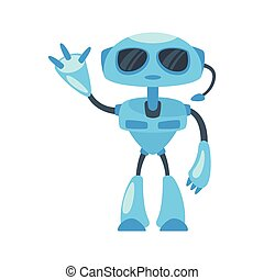 illustration  of security robot