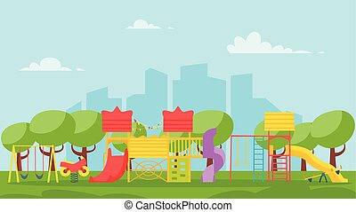 kids playground in the park