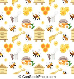 seamless pattern with honey
