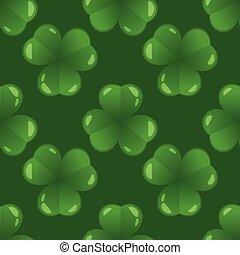 seamless pattern with shamrock
