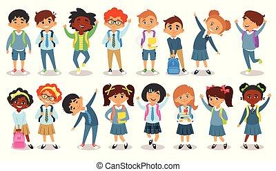 school children of different nationalities