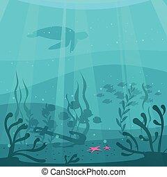 cartoon style underwater background