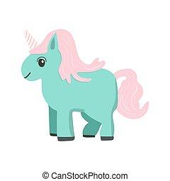 Vector cartoon style unicorn