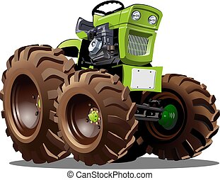 Vector Cartoon Tractor