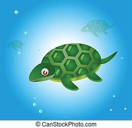 vector cartoon turtle