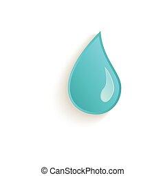vector cartoon water drop closeup isolated