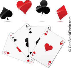 Vector casino cards