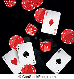 Vector casino elements - Vector illustration of casino...