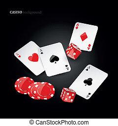 Vector casino elements
