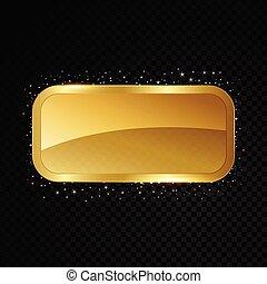 Vector casino frame. Shining banner. Isolated on black transparent background. Vector illustration