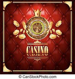 Vector casino gambling game luxury background