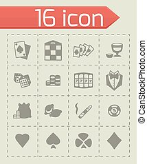 Vector Casino icon set
