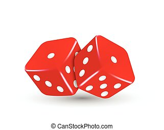 vector casino illustration two red dice