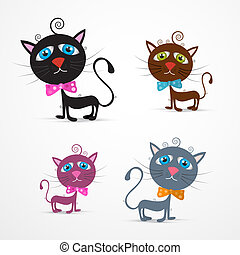 Vector Cat Illustration Set