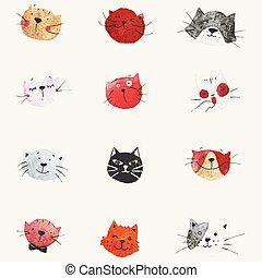Vector Cat Set