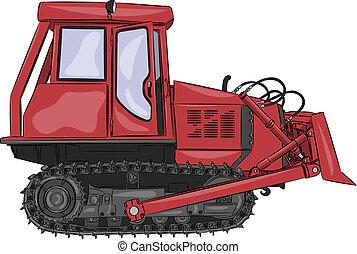 vector caterpillar tractor