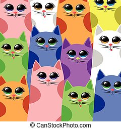 vector cats pattern