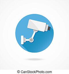 Vector CCTV Surveillance Camera