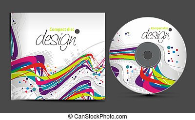cd cover design - vector cd cover design template with copy ...