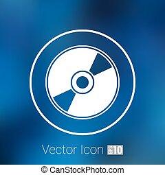 Vector CD or DVD icon disc vector compact disk