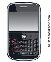 Vector cell phone / PDA / Blackberr - Vector cell phone, PDA...