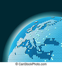 cellular network theme - Vector cellular network theme...
