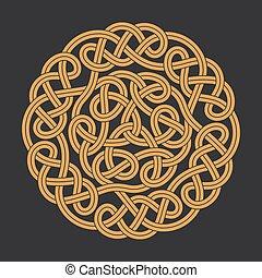 Vector celtic circle cross